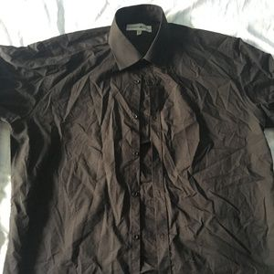 Mens Beverly Hills Polo Club Black Dress Shirt